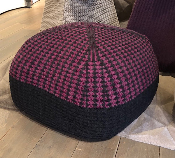 Pink & Black Quadrato Pouffe-Accessories-Topfloor By Esti-LOT.co.uk