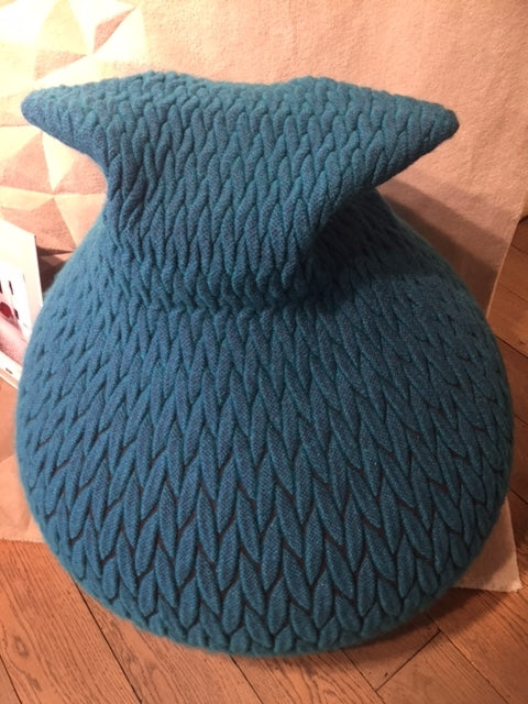 Aqua Cat Pouffe-Accessories-Topfloor By Esti-LOT.co.uk