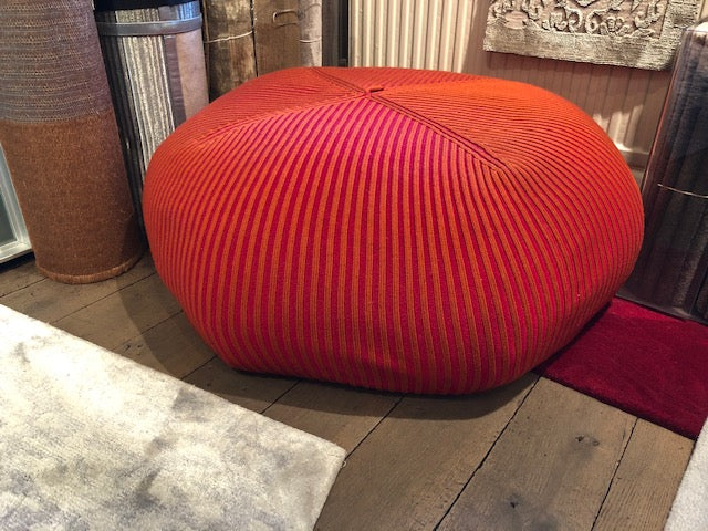 Orange/Red Muffin Pouffe-Accessories-Topfloor By Esti-LOT.co.uk