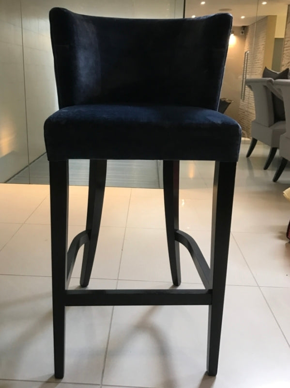 Dark Blue Bar Stools-Chairs-Louise Bradley-LOT.co.uk