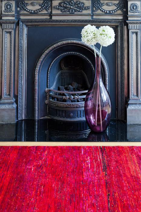 Red Rug-Rugs & Carpets-Topfloor By Esti-LOT.co.uk
