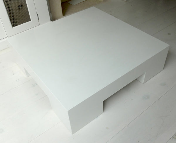 Coffee Table In White Lacquer-Tables-Meridiani-LOT.co.uk
