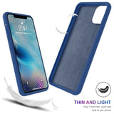 Silicone Candy Color Built-in Velvet Slim Case for iphone 11, Pro & Max