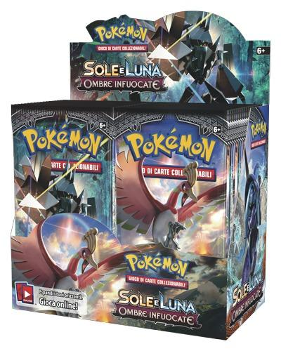 BOX BUSTINE CARTE POKEMON SOLE E LUNA BOX 36 BUSTINE (3948278841441)