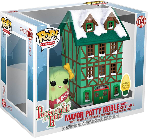 Funko Christmas Village POP  Town Hall  Mayor Patty Noble con Luci