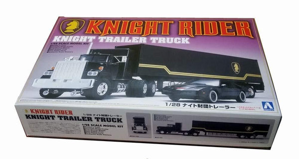 Knight Rider Modelkit 1/28 Trailer Truck TV Serie Supercar Scala Aoshima Camion (3948421152865)