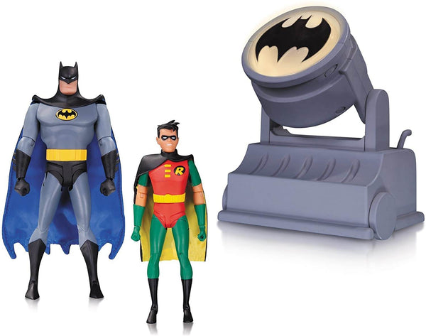 Batman & Robin with Batsignal DC - Batman Animated Series - Action Figures 15 cm