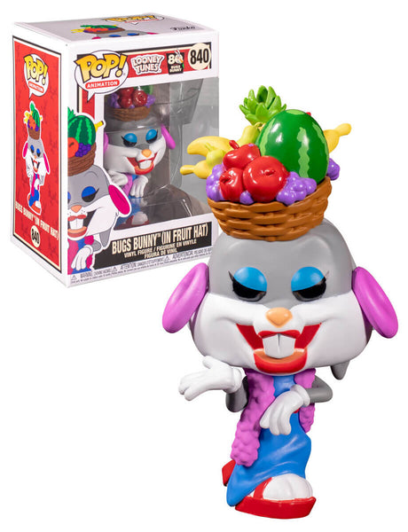Bugs in Fruit Hat Bugs Bunny 80th Anniversary POP! Animation Vinyl Figure  9 cm 840