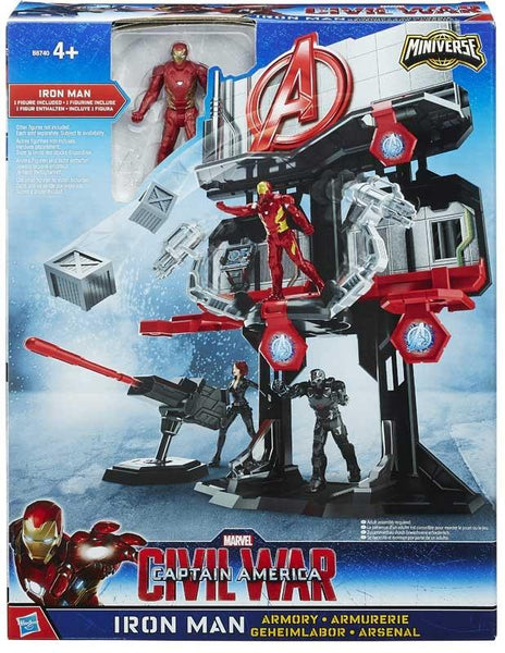 Mini Playset Avengers Con Personaggi 7cm Iron Man e Capitan America Hasbro (3948487278689)