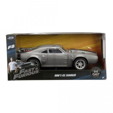 Dom  Ice Charger Modellino in Diecast Scala 1/24 Fast and Furious 8 (3948338249825)