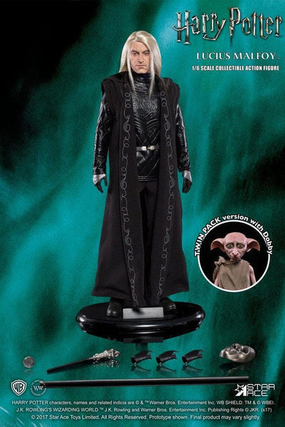 Action Figures Lucius Malfoy e Dobby Star Ace Harry Potter  1:6 (3948406505569)