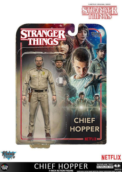 Stranger Things  Sceriffo Hopper 18cm  Action Figures Personaggio con Accessori (3948318031969)