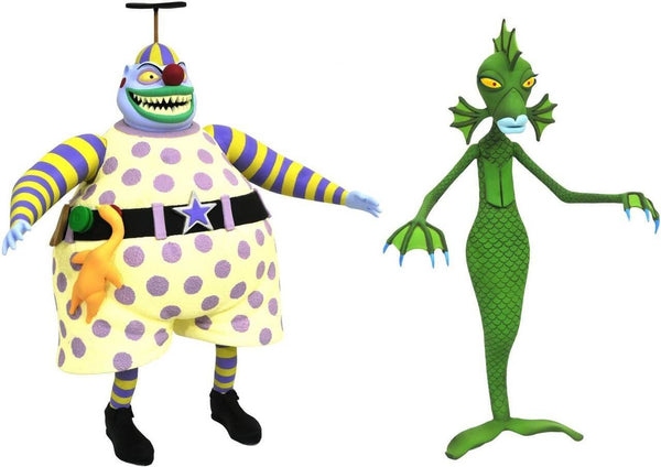 Action Figure Nightmare Before Christmas Diamond Select Clown e Ragazza Sommersa (Undersea Gal) #Personaggio_Clown e Ragazza Sommersa (Undersea Gal) (4098548629601)