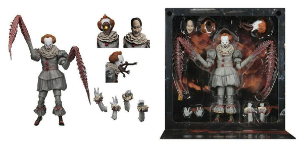 Ultimate Pennywise Clown Danzante Stephen King's It 2017 Action Figure  18cm NECA 45470 (3948444876897)