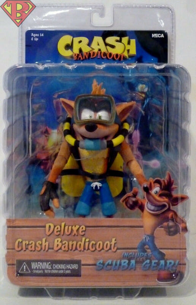Crash Bandicoot con Scuba SUB Action Figures Deluxe 14cm NECA 41052 (3948442681441)