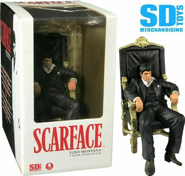 Scarface Statuetta Collezione Movie Icons PVC Tony Montana su Trono 18cm SD Toys (3948460376161)