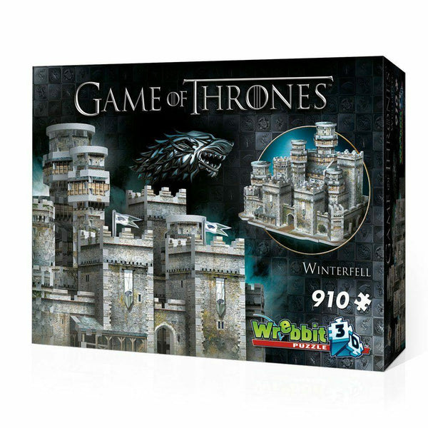 Game of Thrones Puzzle 3D Winterfell Grande Inverno 910 pezzi Wrebbit (3948424364129)