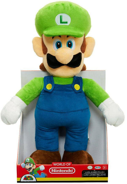 Peluche Luigi 50cm World of Nintendo Super Mario Jumbo Plush Figure Luigi 50 cm