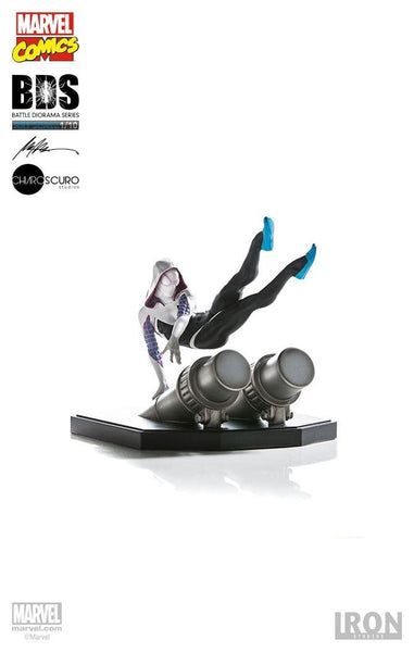 Marvel Comics Battle Diorama Series Statue 1/10 Spider-Gwen 16 cm Statuetta Iron Studios (3948379537505)