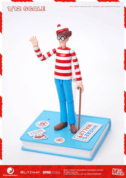 Where's Wally? Mega Hero Action Figure 1/12 Wally 17 cm - OCTOBER 2021
