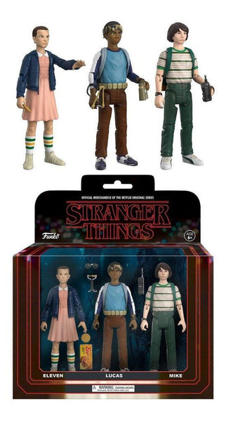 Stranger Things ReAction Action Figures 3-Pack Mike Eleven Lucas 8 cm Funko (3948477317217)