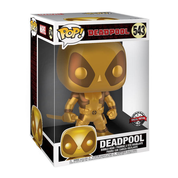 Deadpool ORO Super Sized Funko POP! Viny Figure Thumbs Up Gold 25cm