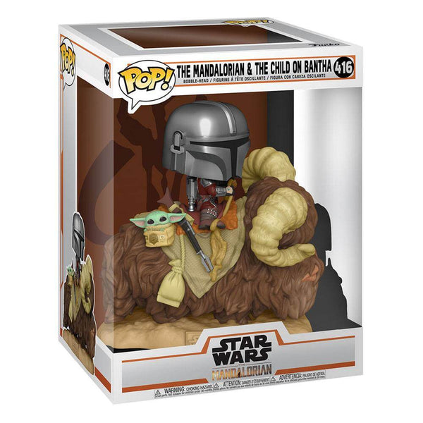 The Mandalorian on Wantha with Child in Bag Star Wars The Mandalorian POP! Deluxe Vinyl Figure  9 cm - 416 - MAY 2021