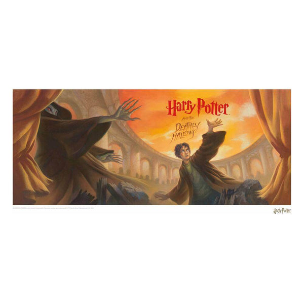 Harry Potter Art Print Deathly Hallows Book Cover Artwork Limited Edition 42 x 30 cm - JULY 2021