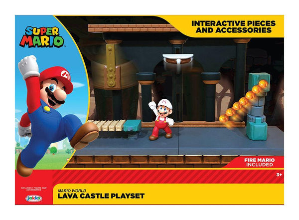 Super Mario Mini Playset Castello Lava World of Nintendo Jakks Pacific