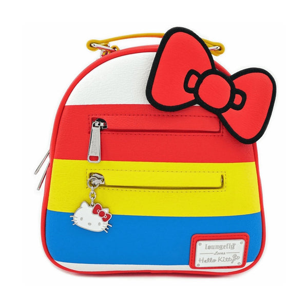 Zainetto Donna Hello Kitty by Loungefly Fiocco Rosso Pelle Sintetica (4339772981345)