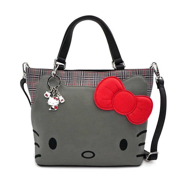 Borsa Donna Tracolla Hello Kitty by Loungefly Grigia Pelle Sintetica (4339776749665)