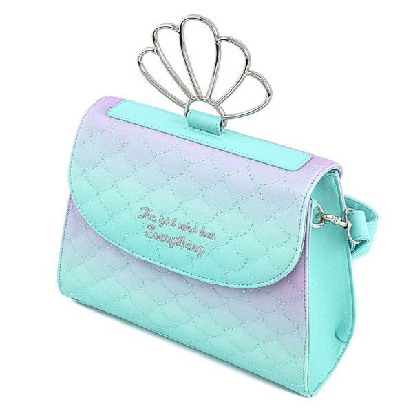 Disney by Loungefly Crossbody Little Mermaid Ombre Scales Shell Tracolla