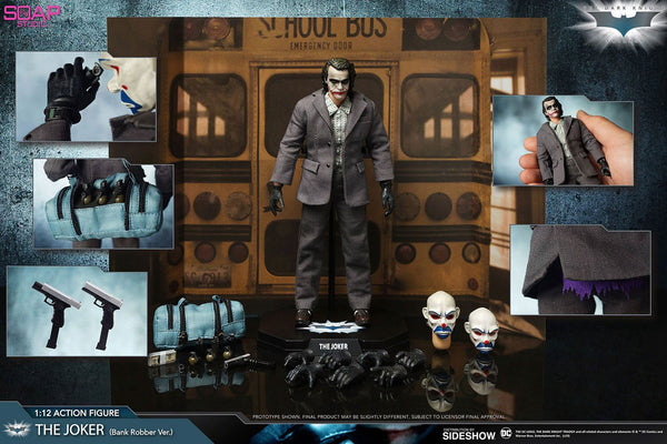 The Joker Action Figure Scala 1/12 The Dark Knight Versione Ladro di Banca 17 cm Soap Studio (3948480856161)