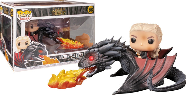 Daenerys su Drago  Drogon Game of Thrones Funko POP  Rides Trono Spade 18 cm - 68