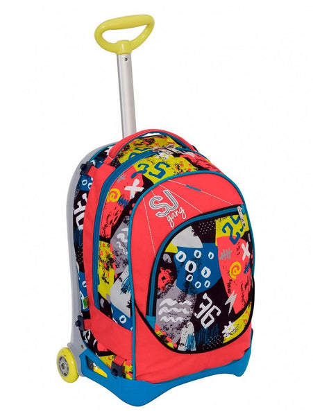 ZAINO SCUOLA TROLLEY SJ GANG JACK HIGH TECH BOY SEVEN 2017 2018 (3948227035233)
