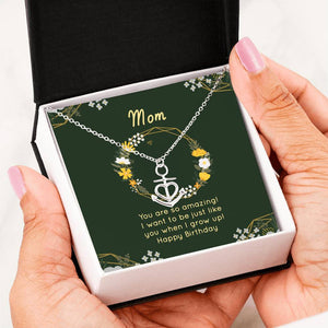 Birthday Gifts For Mom Anchor Necklaces Birthday Mothers Day Gifts Pendant 16 - 22 inch 18k Yellow Gold - HihiMom