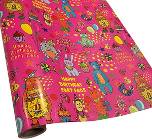 Happy Birthday Fart Face wrapping paper