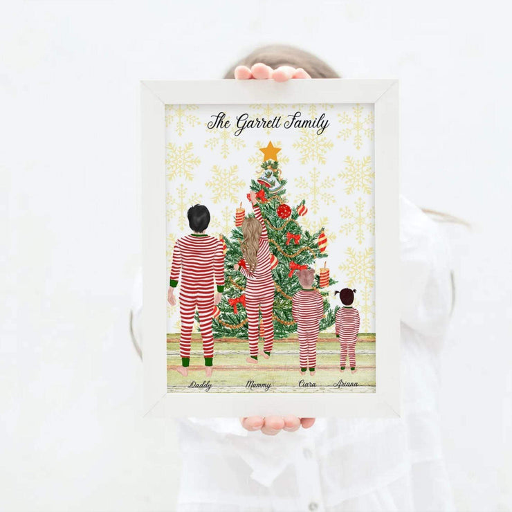 Personalised Christmas Tree Family Print Christmas family personalised print 8x10