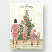 Personalised Christmas Tree Family Print Christmas family personalised print