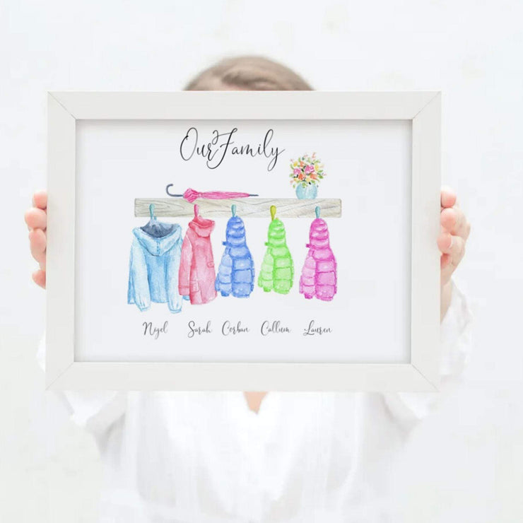 Family Of Coats Personalised Print - Personalise Gifts UK