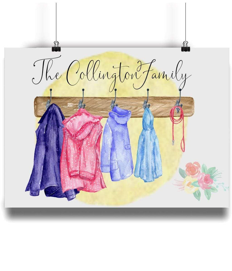 Personalised Family of Coats Portrait - Personalise Gift Shop UK