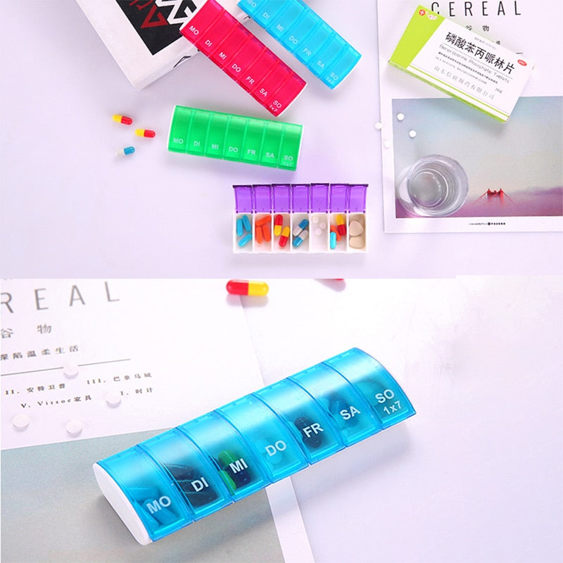 BEST SELLING Portable Plastic Pill Organizer Tablet Box