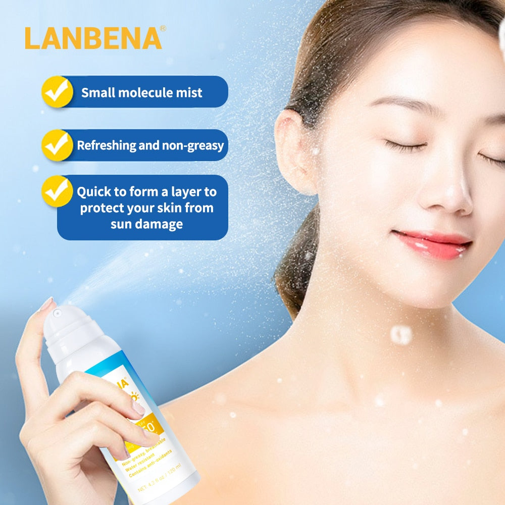 Skin Whitening Face Body Sunblock Water-Resistant Brightening Breathable Suncream