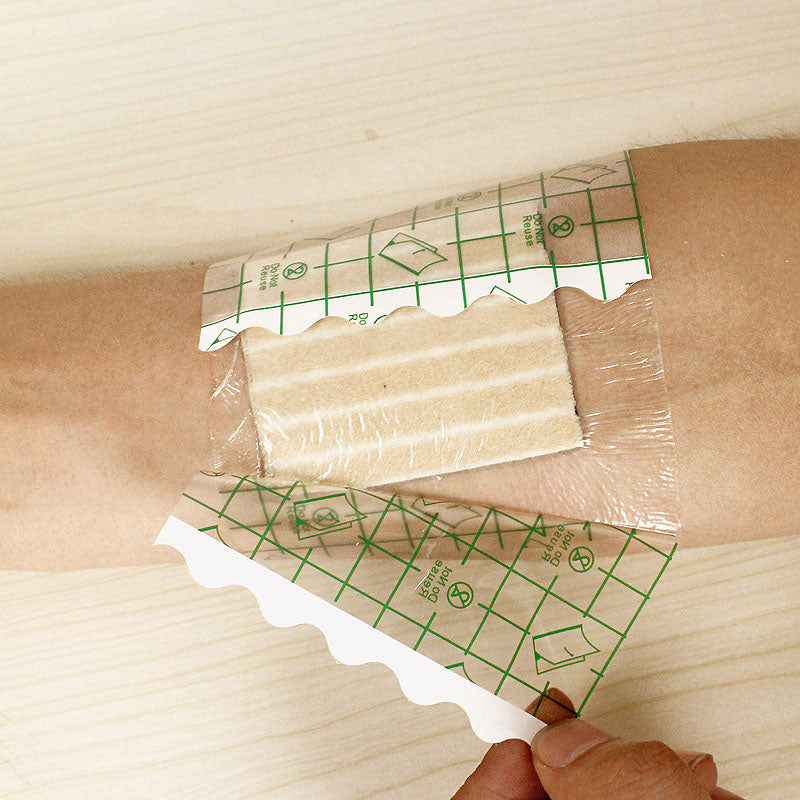 100 Pcs 10*10cm Anti-allergic PU Film Medical Adhesive Transparent Wound Dressing Fixation Tape