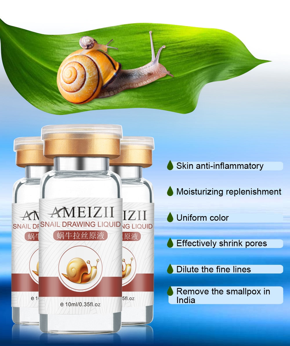 Snail Essence Hyaluronic Acid Serum for Moisturizing Whitening and Anti-Aging Face Skin