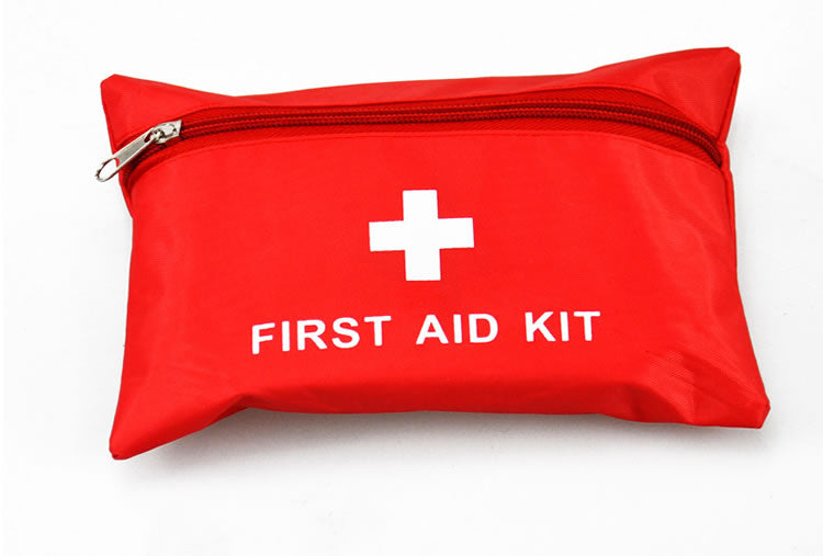 14 Items/Set Portable Outdoor Waterproof First Aid Kit Bag For Family Or Travel