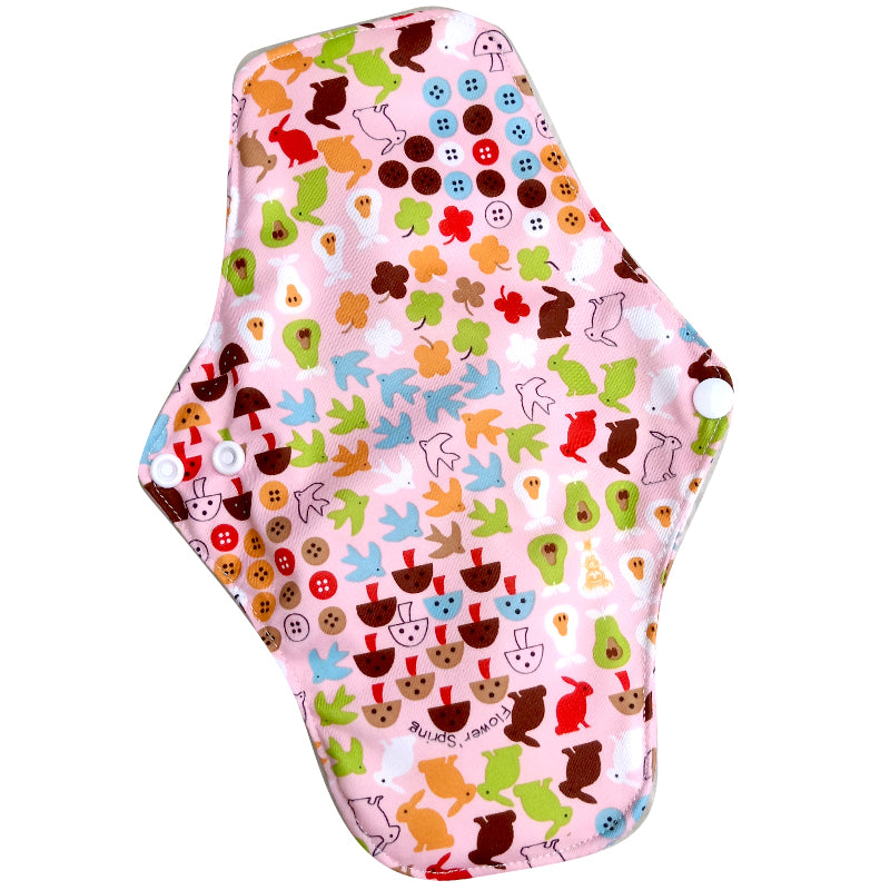 Washable PUL Print Organic Bamboo Reusable Cloth Sanitary Pad for Women