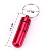 Keychain Design Waterproof Aluminum Pill Box Case