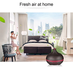 550ML Remote Control Ultrasonic Air Humidifier Essential Oil Diffuser