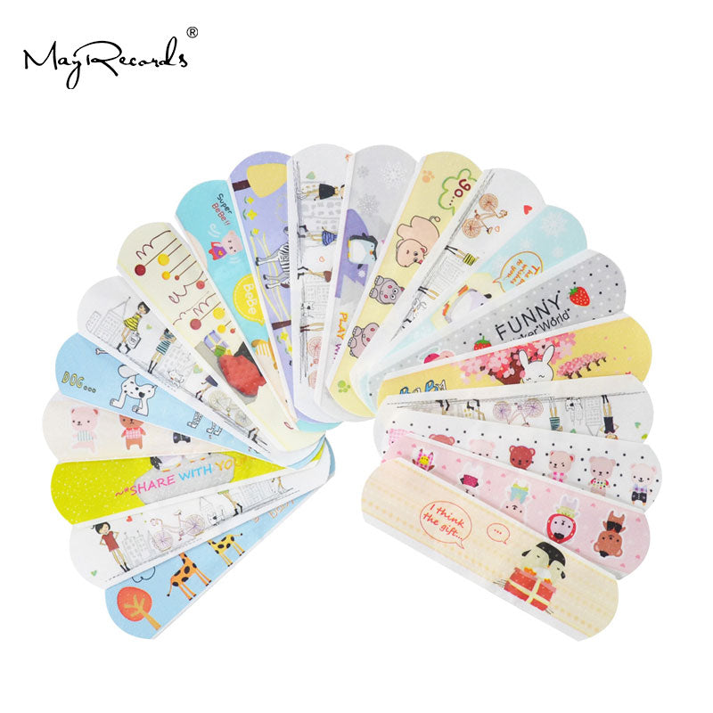 100PCs Waterproof Breathable Cute Cartoon Band Aid For Kids